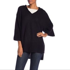 NWT Halogen 100% Cashmere Hooded Poncho